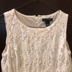 RALPH LAUREN lace dress - white - size 6